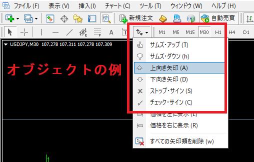 eaboSigの設定方法_インジケータの色設定を確認_変更不可2_オブジェクトとは