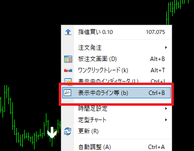 eaboSigの設定方法_インジケータの色設定を確認_変更不可3_表示中のライン