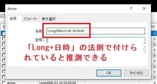 eaboSigの設定方法_インジケータの色設定を確認_変更不可5_オブジェクトの名前